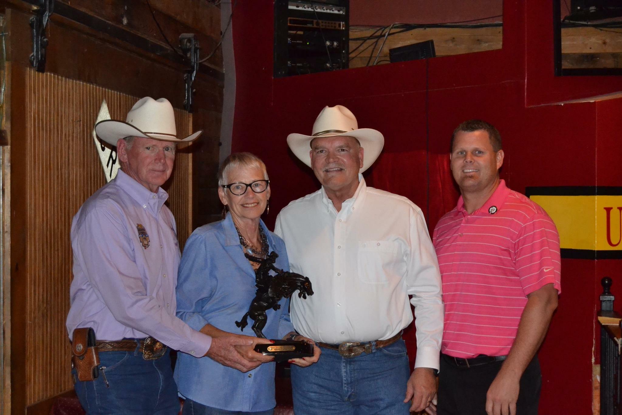 Left to Right; Doc Trotter, Jane Longmeyer, David J. Rebein and John Bogner
